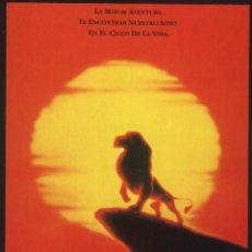 Cine: P-8607- EL REY LEÓN (THE LION KING) FICHA PELICULA. Lote 194496666