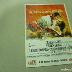 Cine: POSTAL DEL CINE ROXY DE LA PELÍCULA LO QUE EL VIENTO SE LLEVÓ- NUEVA. Lote 194501861