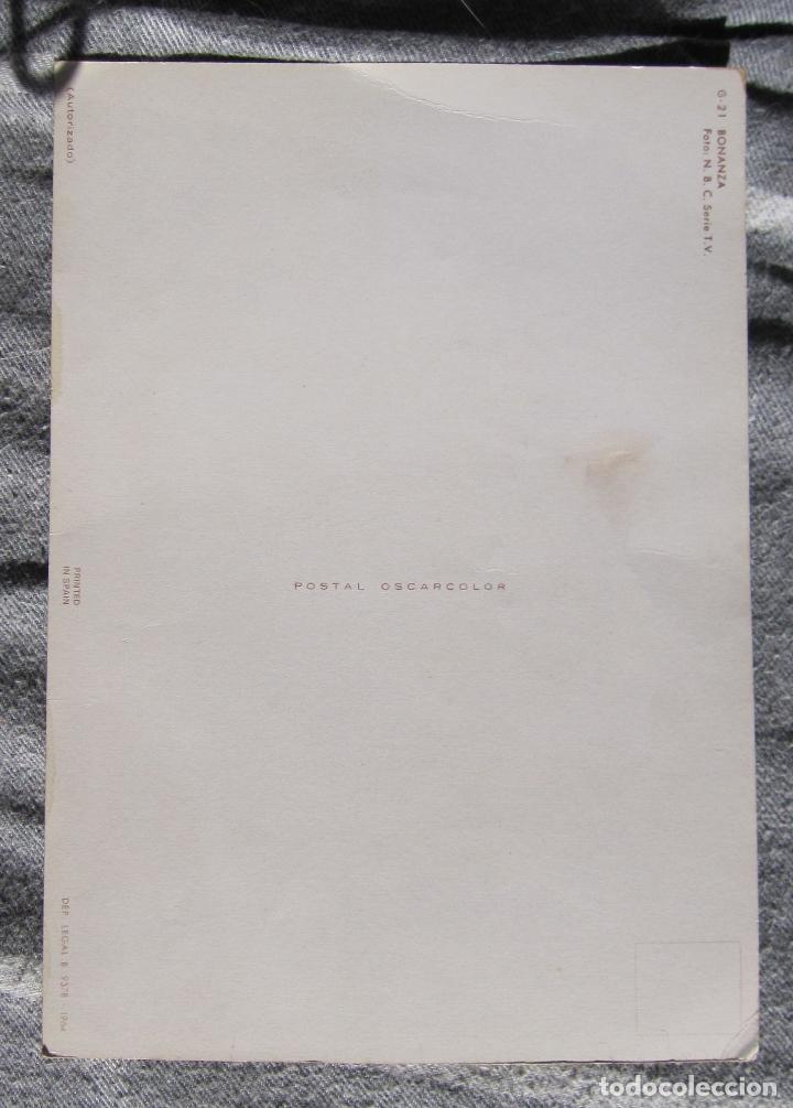 Cine: POSTAL GIGANTE. BONANZA. 1964.G-21. OSCARCOLOR. 15 X 21 CM - Foto 5 - 194514765