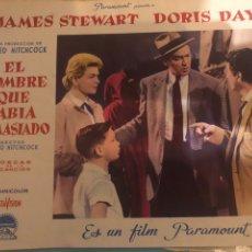Cine: FOTOCROMOS. EL HOMBRE QUE SABÍA DEMASIADO. Lote 194572832