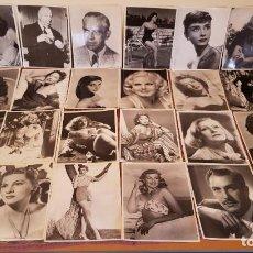 Cine: LAS FICHAS DE CACITEL,LOTE DE 24 FOTOS,ACTRICES ACTORES,CINE.BUEN ESTADO.VER FOTOS.. Lote 194603683