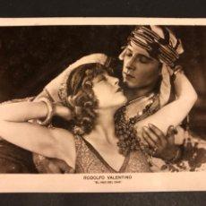 Cine: TARJETA POSTAL DE RODOLFO RUDOLPH VALENTINO.EL HIJO DEL CAID. Lote 194723368