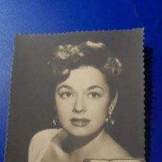 Cine: ANTIGUA FOTOGRAFIA DE LA ARTISTA RUTH ROMAN 13,5X8,5 CM. . Lote 194861380
