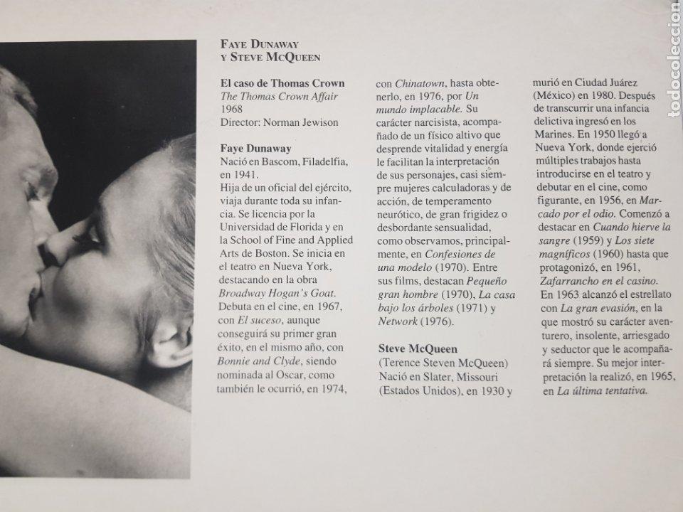 Cine: FAYE DUNAWAY & STEVE McQEEN: ELcaso de Tomas crown. FOTOGRAFÍA grande ORIGINAL - Foto 2 - 194882595