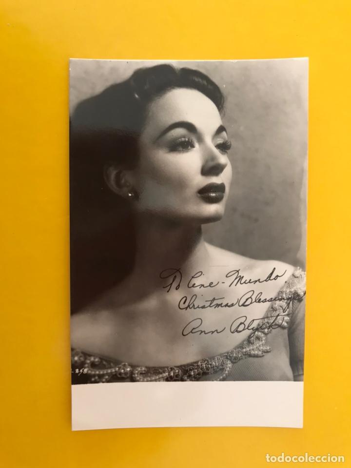 CINE. ACTORES Y ACTRICES. POSTAL ANN BLYTH. FIRMADA..., ACTRIZ ESTADOUNIDENSE (H.1950?) (Cine - Fotos y Postales de Actores y Actrices)