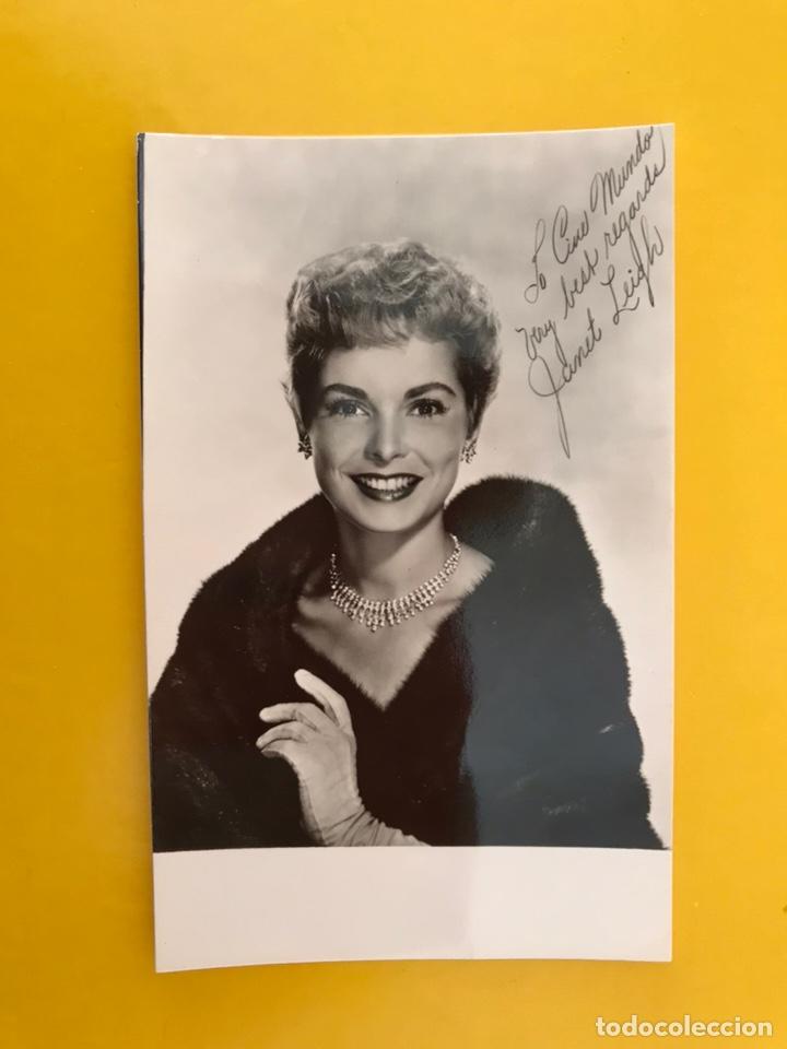 CINE. ACTORES Y ACTRICES. POSTAL JANET LEIGH. FIRMADA..., ACTRIZ ESTADOUNIDENSE (H.1950?) (Cine - Fotos y Postales de Actores y Actrices)