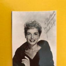 Cine: CINE. ACTORES Y ACTRICES. POSTAL JANET LEIGH. FIRMADA..., ACTRIZ ESTADOUNIDENSE (H.1950?). Lote 194884757