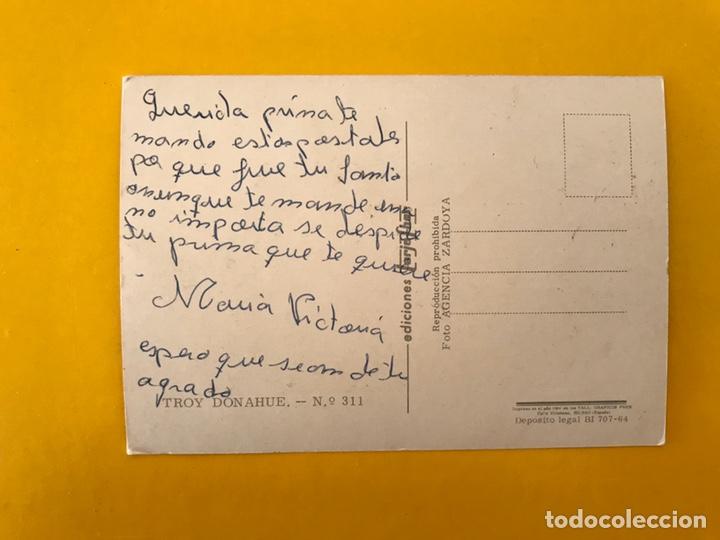 Cine: CINE Actores y Actrices Foto postal No.311 TROY DONAHUE Actor. Estadounidense (a.1964) - Foto 2 - 194887415