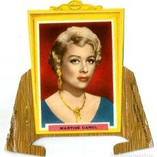 Cine: MARTINE CAROL - TARJETA TROQUELADA CON PESTAÑAS - . Lote 195036875