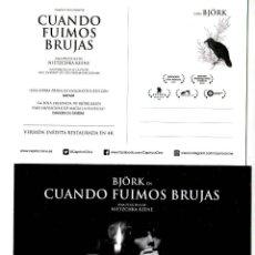 Cine: CUANDO FUIMOS BRUJAS, CON BJÖRK. POSTAL.. Lote 195048918