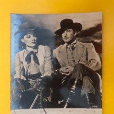 Cine: CARCAGENTE. CINE MODERNO. POSTAL PUBLICIDAD RÍO DE PLATA, CON ANN SHERIDAN Y ERROL FLYNN (H.1950?). Lote 195116281