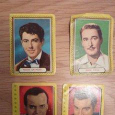 Cine: 4 CROMOS FAMOSAS ESTRELLAS DE LA PANTALLA + 5 CROMOS. Lote 195156417