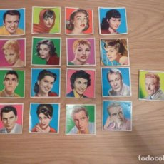 Cine: 17 CROMOS CINE FOTO. ESTRELLAS DE HOY Y DE SIEMPRE. Lote 195156487