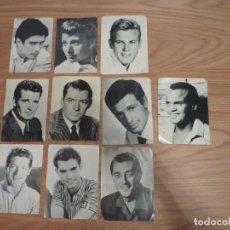 Cine: 9 FOTO FICHA OBSEQUIO DE ROMÁNTICA Y 1 OBSEQUIO DE CLARO DE LUNA. Lote 195156726