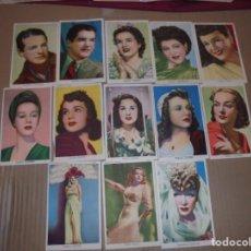 Cine: MAGNIFICOS 13 FOTOCROMOS DE ARTISTAS DE CINE TODOS DE UNIVERSAL FILMS ESPAÑOL. Lote 195225560