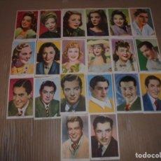 Cine: MAGNIFICOS 20 FOTOCROMOS DE ARTISTAS DE CINE TODOS DE 20 CENTURY FOX. Lote 195226072