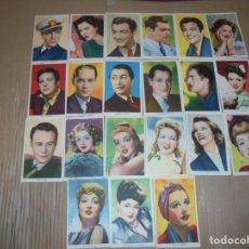 Cine: MAGNIFICOS 21 FOTOCROMOS DE ARTISTAS DE CINE TODOS DE METRO GOLDWYN MAYER. Lote 195226357