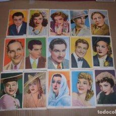 Cine: MAGNIFICOS 15 FOTOCROMOS DE ARTISTAS DE CINE TODOS DE PARAMONT. Lote 195226883