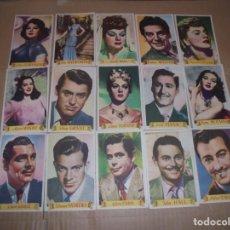 Cine: MAGNIFICOS 36 FOTOCROMOS DE ARTISTAS DE CINE CASI TODAS CON PUBLICIDAD PRODUCTOS LACTEOS AGIL. Lote 195227226