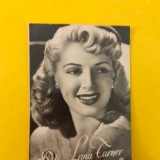 Cine: CINE. ACTORES Y ACTRICES. FOTO CROMO. LANA TURNER. EDITA: PUBLICIDAD GEVAERT.....(H.1950?). Lote 195237821