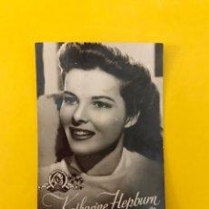 Cine: CINE. ACTORES Y ACTRICES. FOTO CROMO. KATHARINE HEPBURN. EDITA: PUBLICIDAD GEVAERT.... Lote 195238102