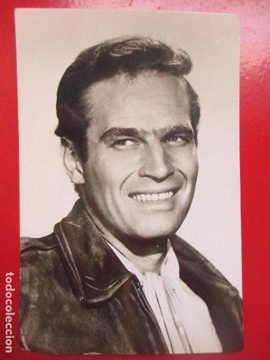 POSTAL ACTOR ARTISTA CINE CHARLTON HESTON EL SECRETO DE LOS INCAS PA6 (Cine - Fotos y Postales de Actores y Actrices)