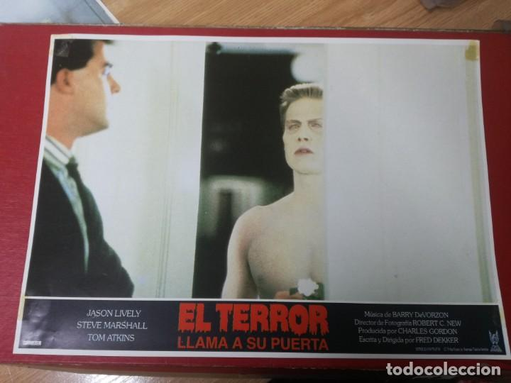 Cine: LOTE COMPLETO DE 12 FOTOCROMOS AFICHES EL TERROR LLAMA A SU PUERTA. JASON LIVELY TOM - Foto 2 - 195369043
