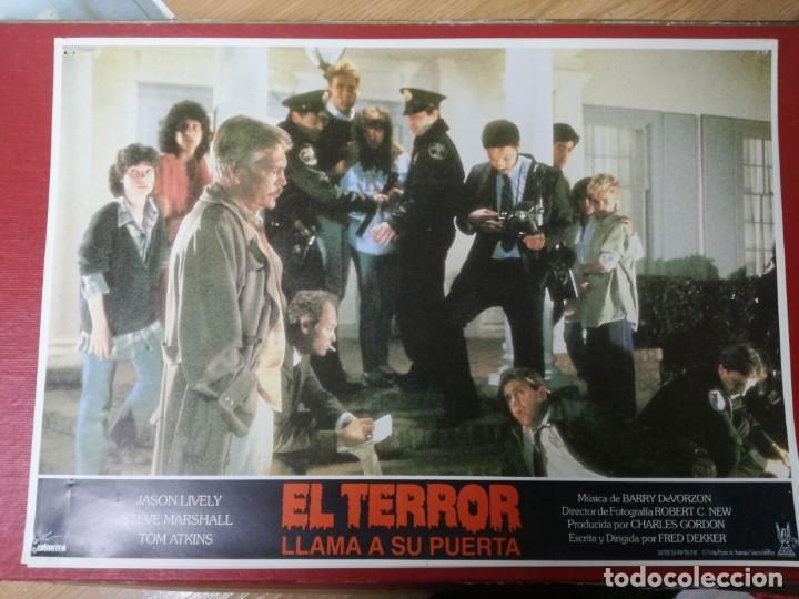 Cine: LOTE COMPLETO DE 12 FOTOCROMOS AFICHES EL TERROR LLAMA A SU PUERTA. JASON LIVELY TOM - Foto 3 - 195369043