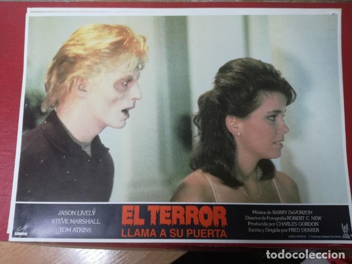 Cine: LOTE COMPLETO DE 12 FOTOCROMOS AFICHES EL TERROR LLAMA A SU PUERTA. JASON LIVELY TOM - Foto 4 - 195369043