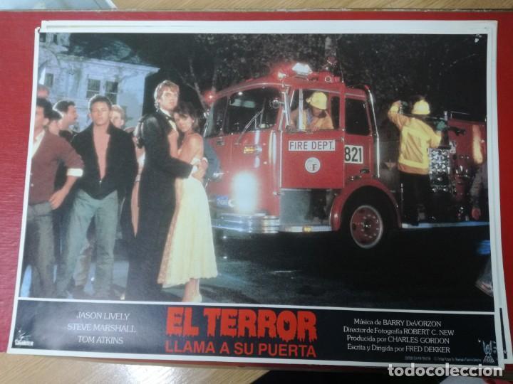 Cine: LOTE COMPLETO DE 12 FOTOCROMOS AFICHES EL TERROR LLAMA A SU PUERTA. JASON LIVELY TOM - Foto 5 - 195369043