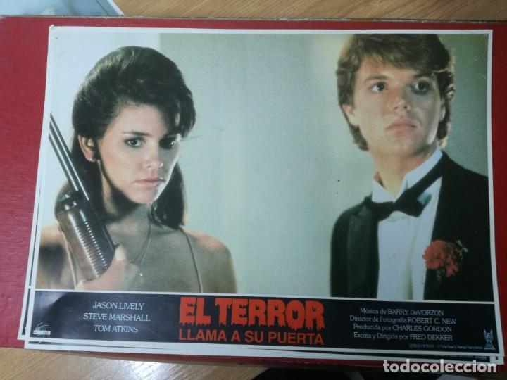 Cine: LOTE COMPLETO DE 12 FOTOCROMOS AFICHES EL TERROR LLAMA A SU PUERTA. JASON LIVELY TOM - Foto 6 - 195369043