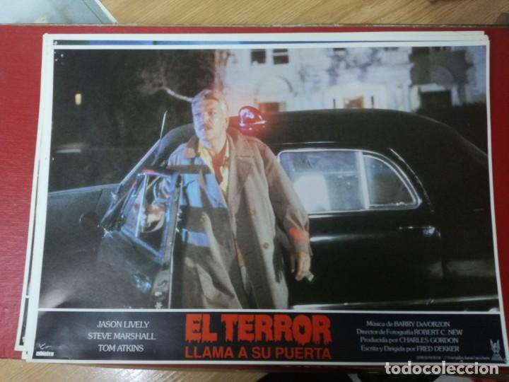 Cine: LOTE COMPLETO DE 12 FOTOCROMOS AFICHES EL TERROR LLAMA A SU PUERTA. JASON LIVELY TOM - Foto 8 - 195369043