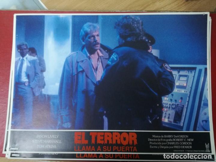 Cine: LOTE COMPLETO DE 12 FOTOCROMOS AFICHES EL TERROR LLAMA A SU PUERTA. JASON LIVELY TOM - Foto 9 - 195369043