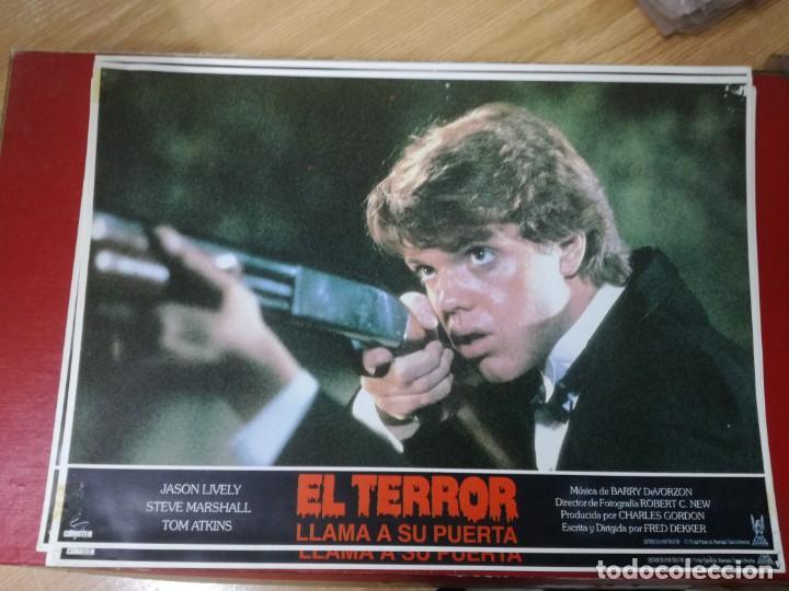Cine: LOTE COMPLETO DE 12 FOTOCROMOS AFICHES EL TERROR LLAMA A SU PUERTA. JASON LIVELY TOM - Foto 12 - 195369043