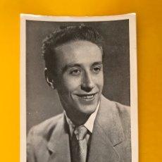 Cine: LUIS GULLA. LOCUTOR DE RADIO BARCELONA POSTAL PUBLICIDAD POTAX (H.1950?). Lote 195429545
