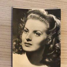 Cine: CINE ACTORES Y ACTRICES FOTO POSTAL NO.401, MAUREEN O'HARA. ACTRIZ ESTADOUNIDENSE. Lote 195505636
