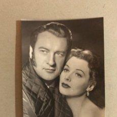 Cine: ACTORES. POSTAL NO.570, GEORGE SANDERS Y HEDDY LAMARR. EDITA: ED. SOBERANAS . (H.1950?). Lote 195512547