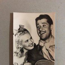 Cine: CINE, POSTAL NO.301, BETTY GRABLE Y DON AMEECHE . FOX, (H.1950?) SIN CIRCULAR.... Lote 195524166