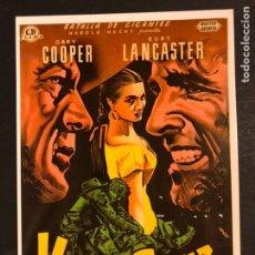 Cine: TARJETA POSTAL DE VERACRUZ.GARY COOPER BURT LANCASTER. Lote 218598620