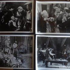 Cine: 4 FOTOGRAFÍAS DE LA PELÍCULA CON CORAZÓN Y ESPADA DE 24 X 18 CM, AÑO 1946 DE EDICI BARCELONA. Lote 196797598