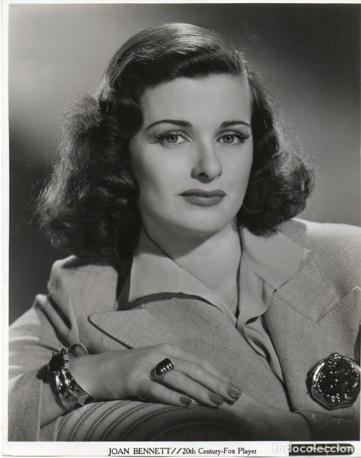 FOTOGRAFÍA ORIGINAL JOAN BENNETT 20TH CENTURY-FOX PLAYER PHOTO BY GENE KORNMAN (Cine - Fotos y Postales de Actores y Actrices)