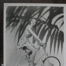 Cine: MARIA MONTEZ - FOTO ORIGINAL B/N - PORTRAIT RETRATO STATIONARY BICYCLE. Lote 198213152