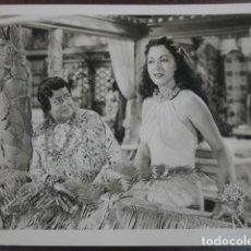 Cine: MARIA MONTEZ - FOTO ORIGINAL B/N - LA SALVAJE BLANCA WHITE SAVAGE SCENE. Lote 198213327