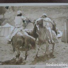 Cine: SUDAN - FOTO ORIGINAL B/N - SUDAN SWORD FIGHT HORSES FILM SCENE . Lote 198213873