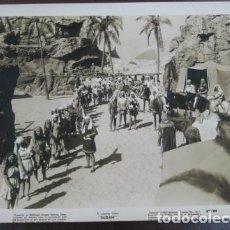 Cine: SUDAN - FOTO ORIGINAL B/N - SUDAN DESERT HORSES FILM SCENE . Lote 198214188