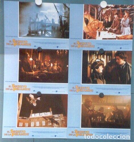 SCDO 012 SHERLOCK HOLMES EL SECRETO DE LA PIRAMIDE SPIELBERG SET 12 FOTOCROMOS ORIGINAL ESTRENO (Cine - Fotos, Fotocromos y Postales de Películas)