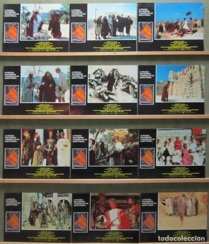 SCDO 006 LA VIDA DE BRIAN MONTY PYTHON SET COMPLETO 12 FOTOCROMOS ORIGINAL ESPAÑOL R-89 (Cine - Fotos, Fotocromos y Postales de Películas)