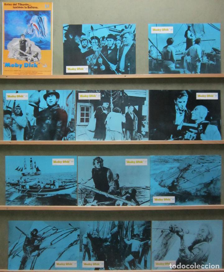 SCDO 010 MOBY DICK GREGORY PECK JOHN HUSTON SET COMPLETO 12 FOTOCROMOS ORIGINAL ESPAÑOL R-78 (Cine - Fotos, Fotocromos y Postales de Películas)