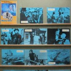 Cine: SCDO 010 MOBY DICK GREGORY PECK JOHN HUSTON SET COMPLETO 12 FOTOCROMOS ORIGINAL ESPAÑOL R-78. Lote 198259086