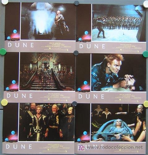 T00201 DUNE DAVID LYNCH STING SET COMPLETO DE 12 FOTOCROMOS ORIGINAL ESTRENO (Cine - Fotos, Fotocromos y Postales de Películas)